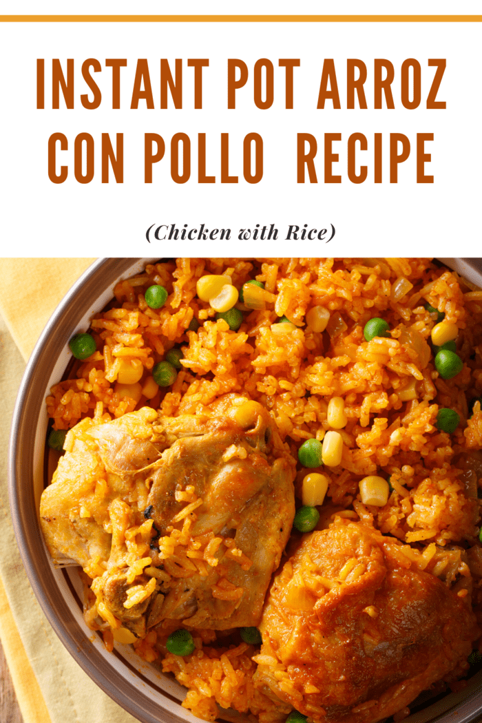 This Instant Pot Arroz con Pollo (Chicken with Rice) Recipe ventures away from the traditional saffron rice and mingles chicken with a flavorful, and colorful Spanish-style rice
