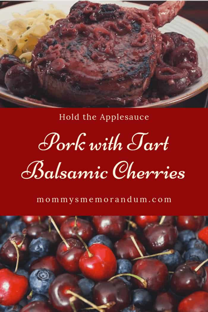 This Pork with Tart Balsamic Cherries will have you holding the applesauce. Tart cherries with the depth of balsamic offers so much flavor to the pork.