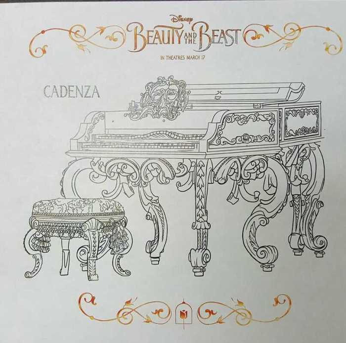 Beauty and the Beast coloring sheets Cadenza