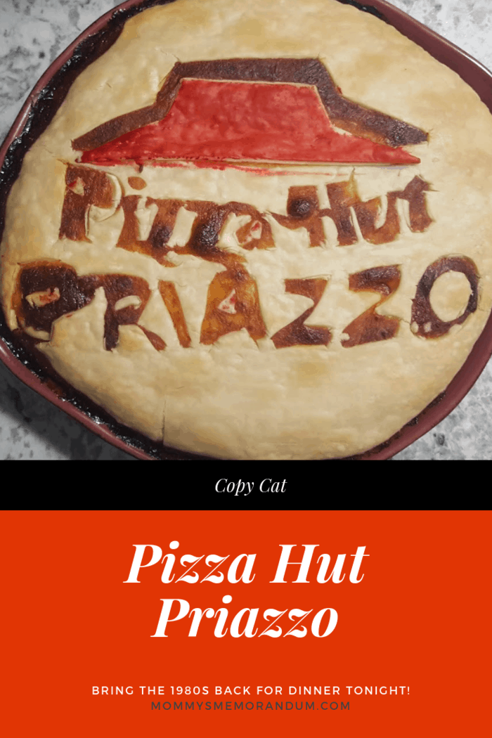 We broke the code on the 1985 Pizza Hut Priazzo and skipped the wait time to offer you this Priazzo Recipe. Bring the 1980s back to dinner! #priazzo #copycatpizzahut #copycatrecipes #pizzahut