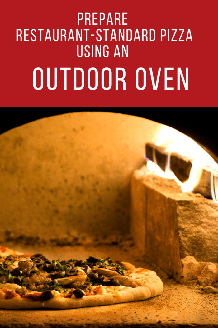 There are different heating processes, integrated with outdoor pizza ovens.