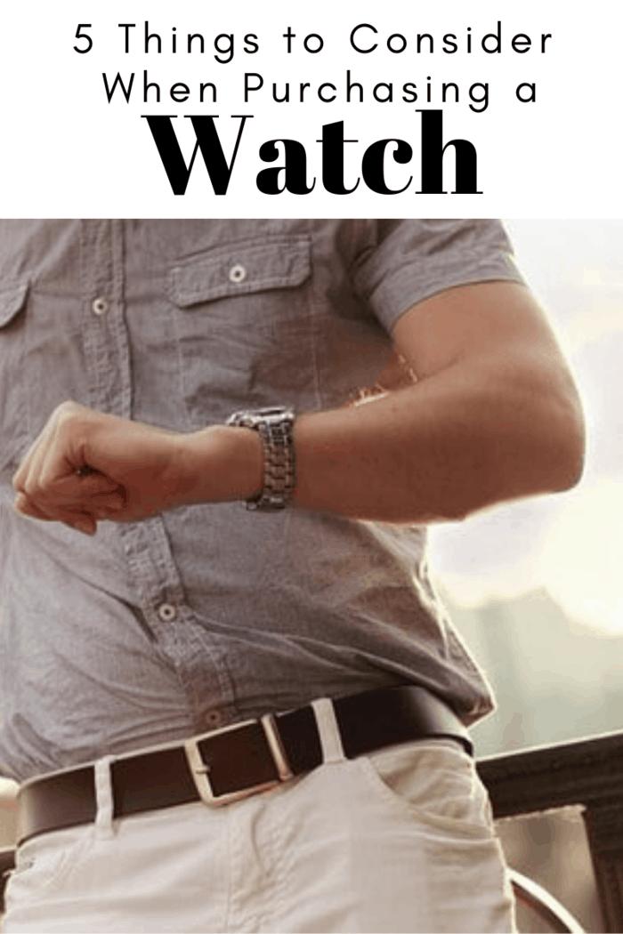 Purchasing a watch