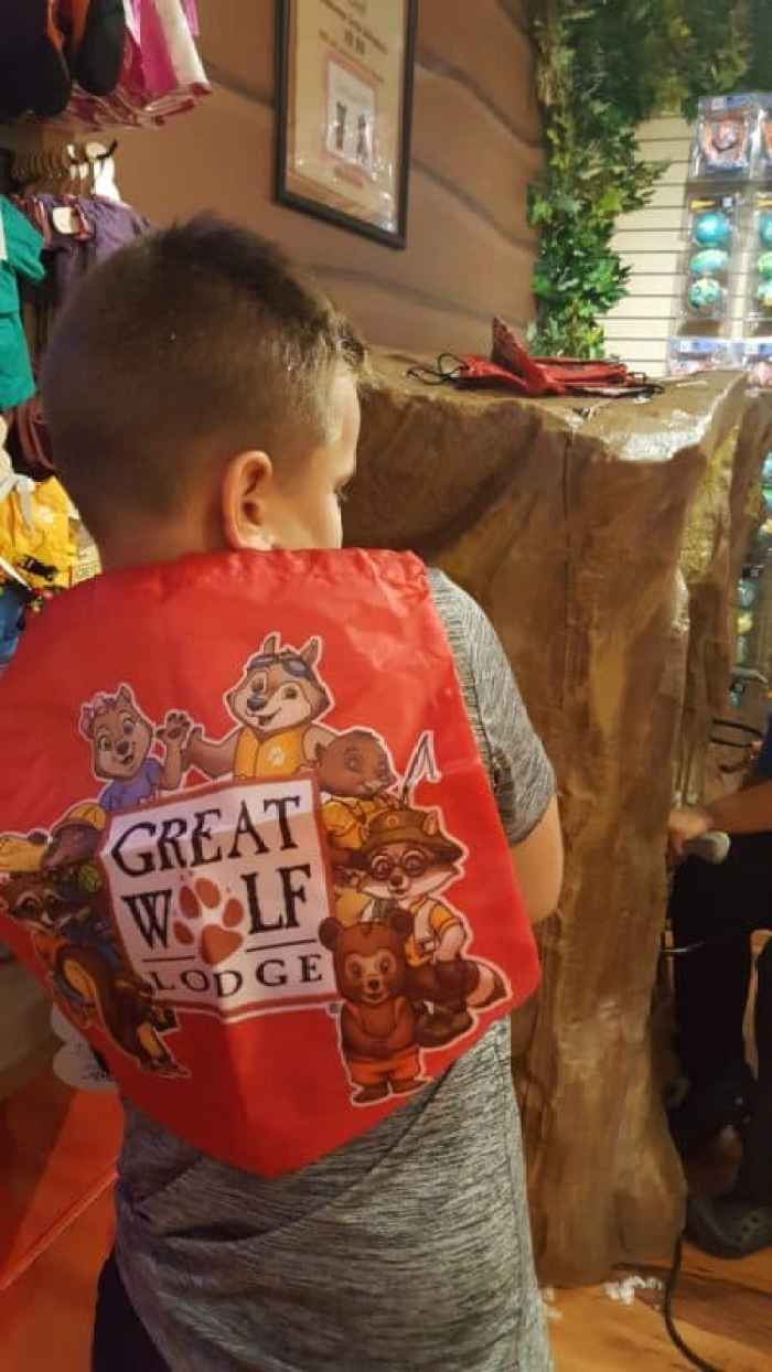 great wolf lodge williamsburg creation station drawstring bag