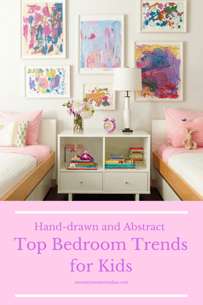 bedroom trends for kids: Hand-drawn look and abstract design can be ideal for kids.