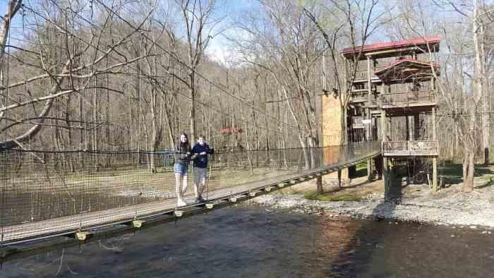rafting in the smokies bridge