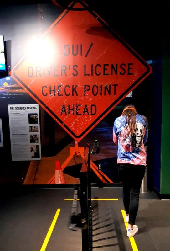 sobriety check at Alcatraz East