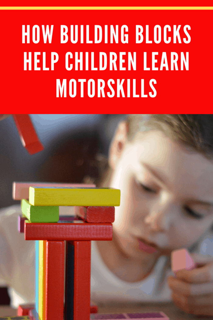 Arranging and stacking building blocks can stimulate the motor development of children, most especially toddlers.