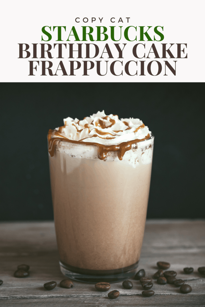 The Starbucks birthday cake frappuccino was created to celebrate the 20th anniversary of its regular frappuccino. Although the original drink is infused with rich vanilla bean and hazelnut extract, our recipe gives you the same experience for less.
