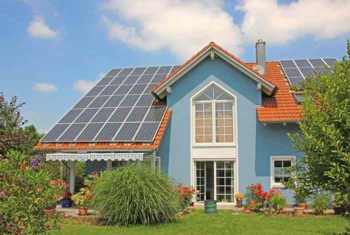 solar grids on roof