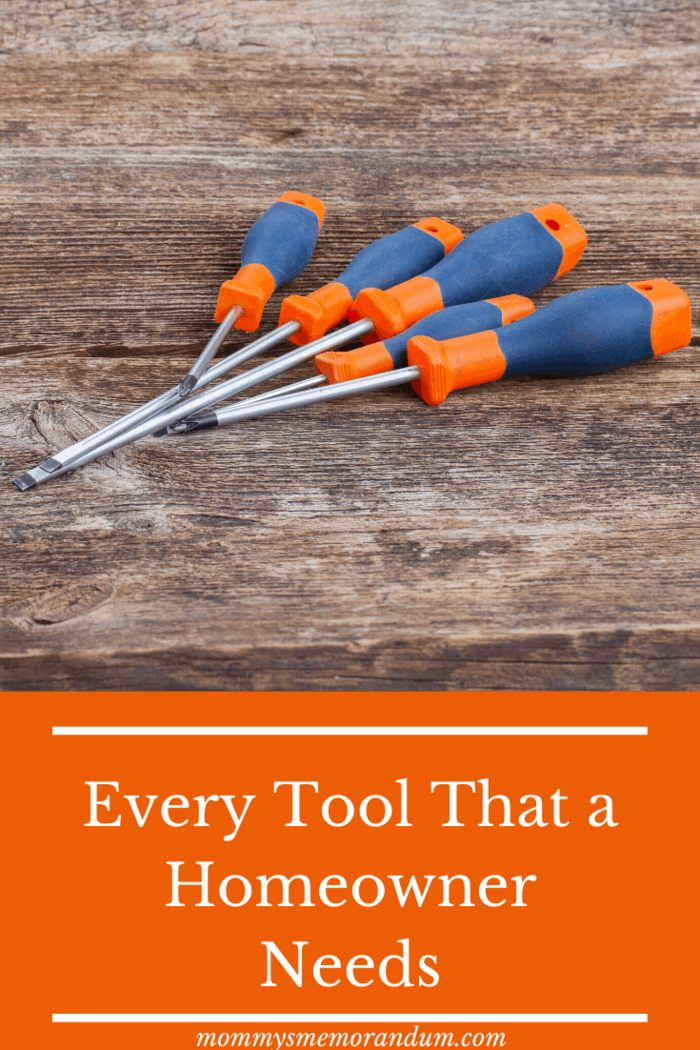 Every Tool That a Homeowner Needs The best screwdrivers come with a magnetic head and a rubber grip.