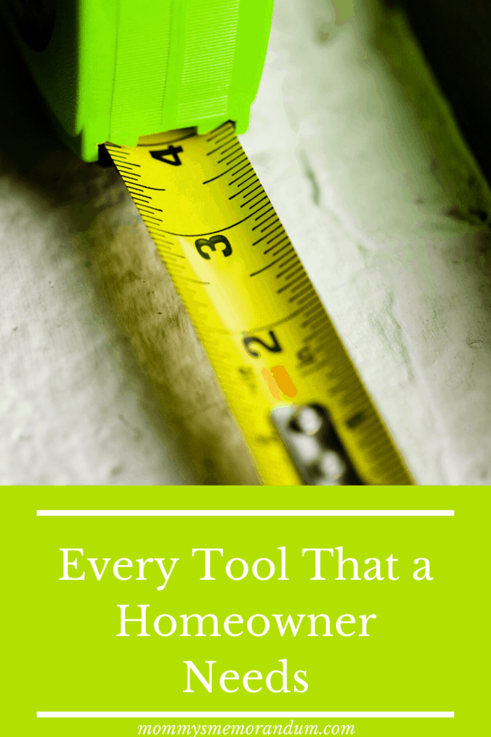 A tape measure is another essential tool for domestic DIY projects.