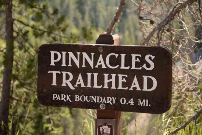 pinnacles trailhead pinnacles national park