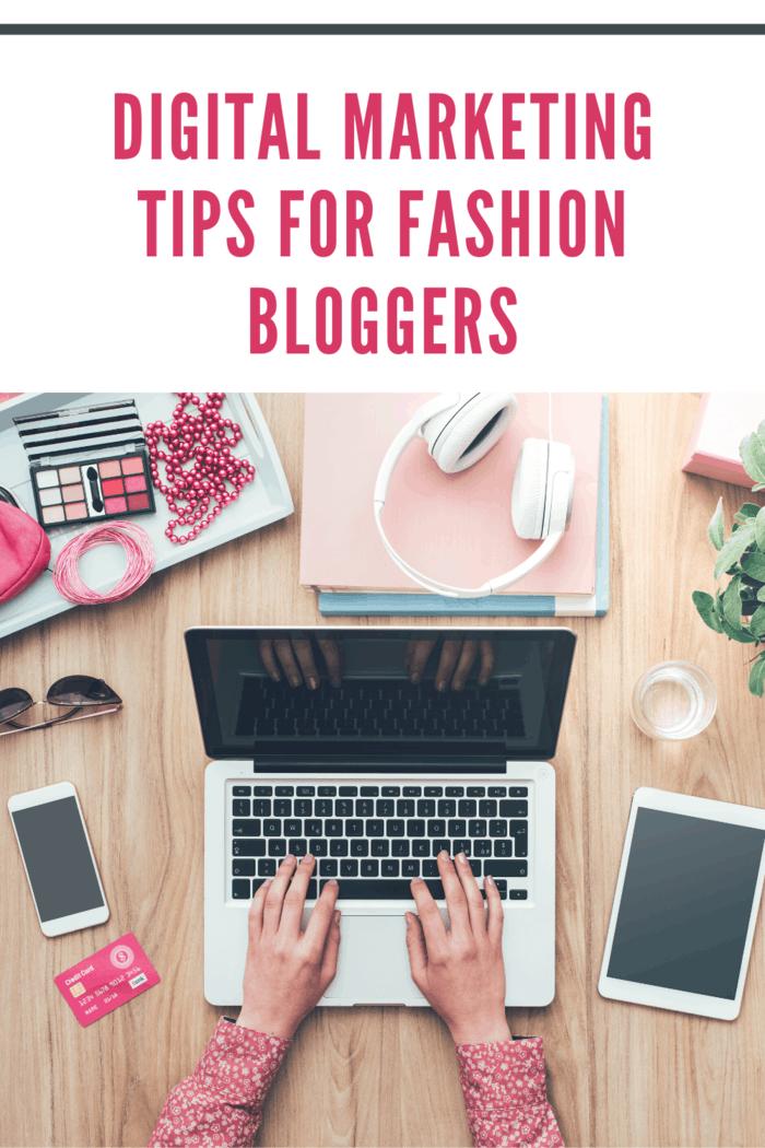 fashion blogger using laptop