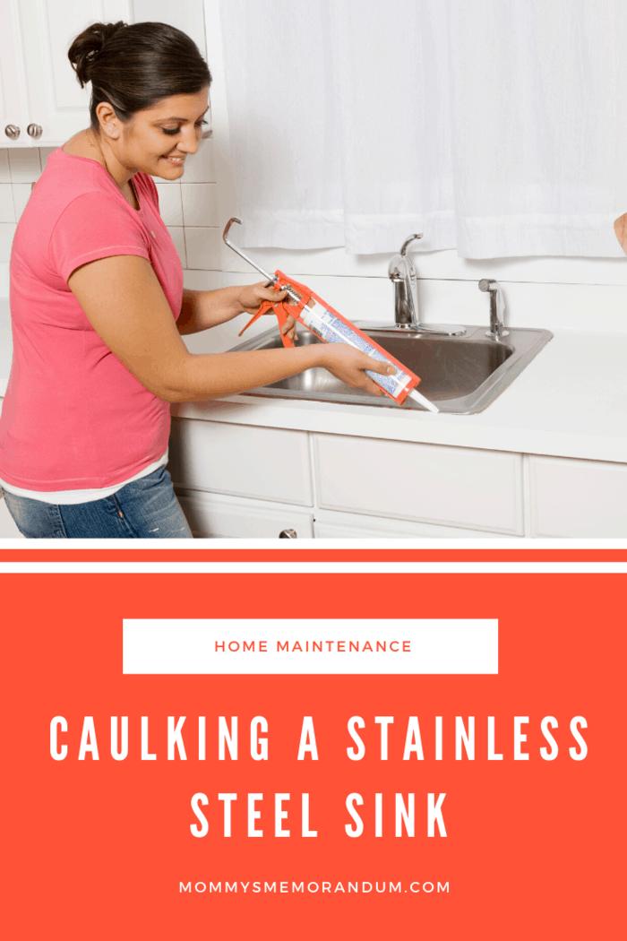 to caulk a stainless steel kitchen sink
