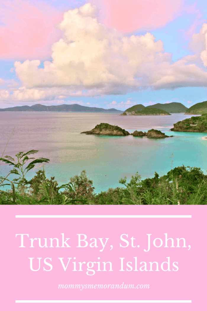 Trunk Bay resides at the northwest corner of the Virgin Islands National Park.