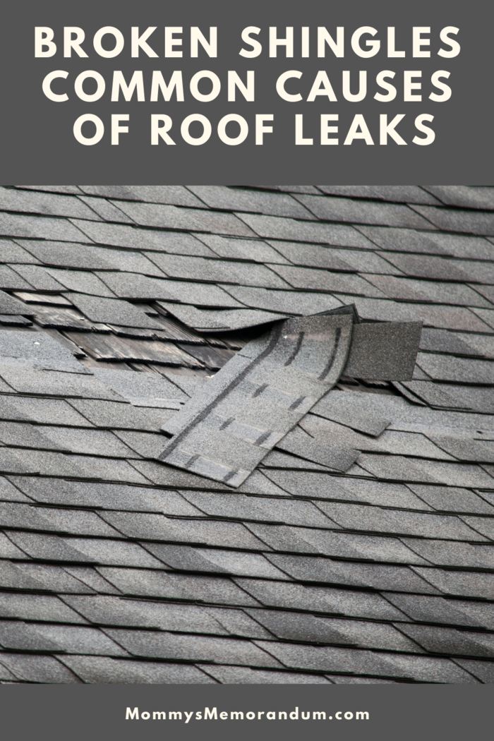 Broken shingles are easy to spot and you don't need to climb to the roof in order to see them.