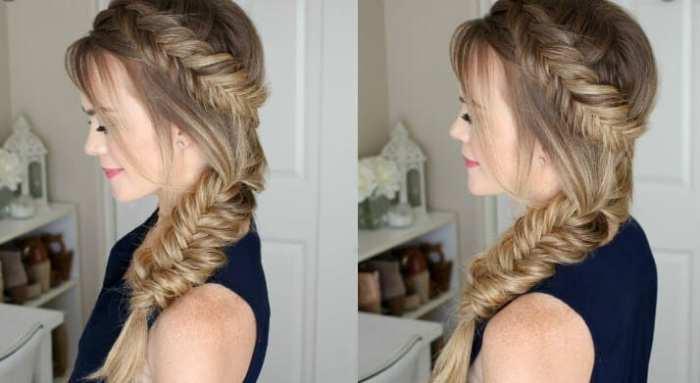 tight side braids