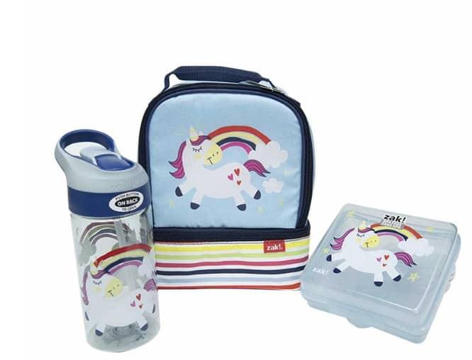 zak designs blue unicorn set