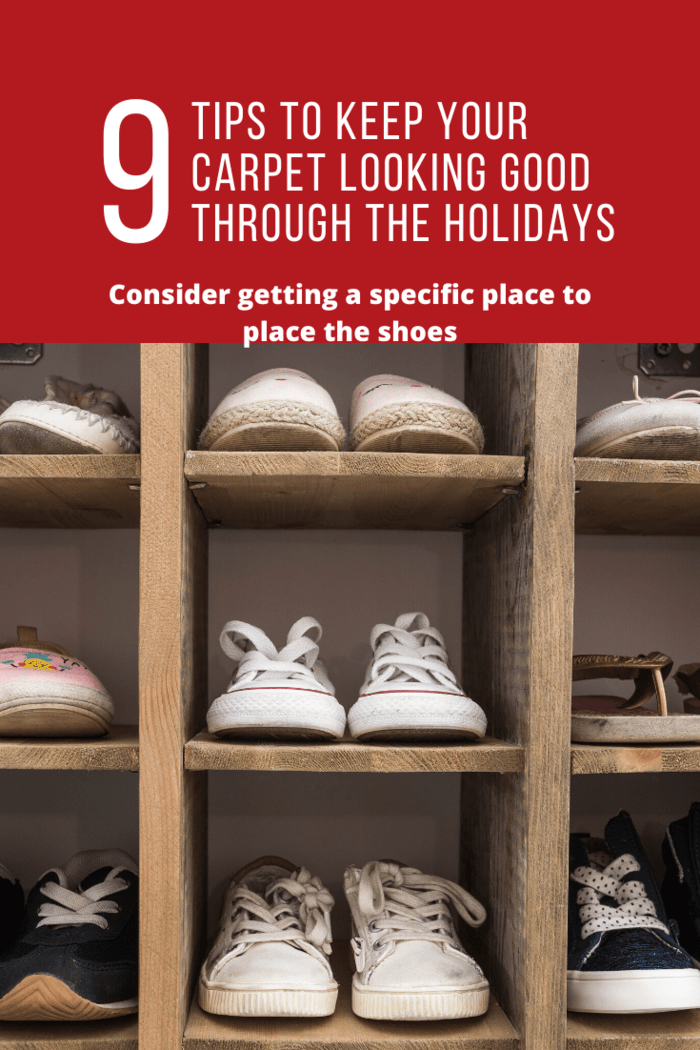 Ensure that the spot has a shoe tray and a rug. It should also be near the door so that people don't have to enter the house halfway to remove the shoes.