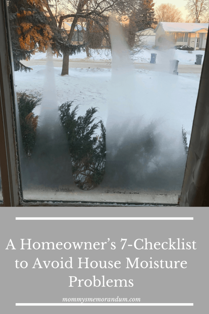 Water intermittently condenses on window panes inside the house during cold winter months. If this frequently occurs, then it can only mean two things. One, the house is lacking suitable storm windows. Or, there is excessive humidity inside.