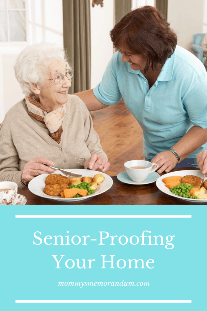 At the same time, don't put them too low because seniors tend to have difficulty bending.