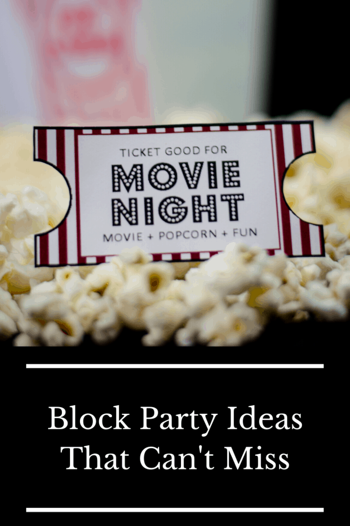If you or one of your neighbors owns a projector, an outdoor movie event is one of the best ways to give everyone a night to remember.