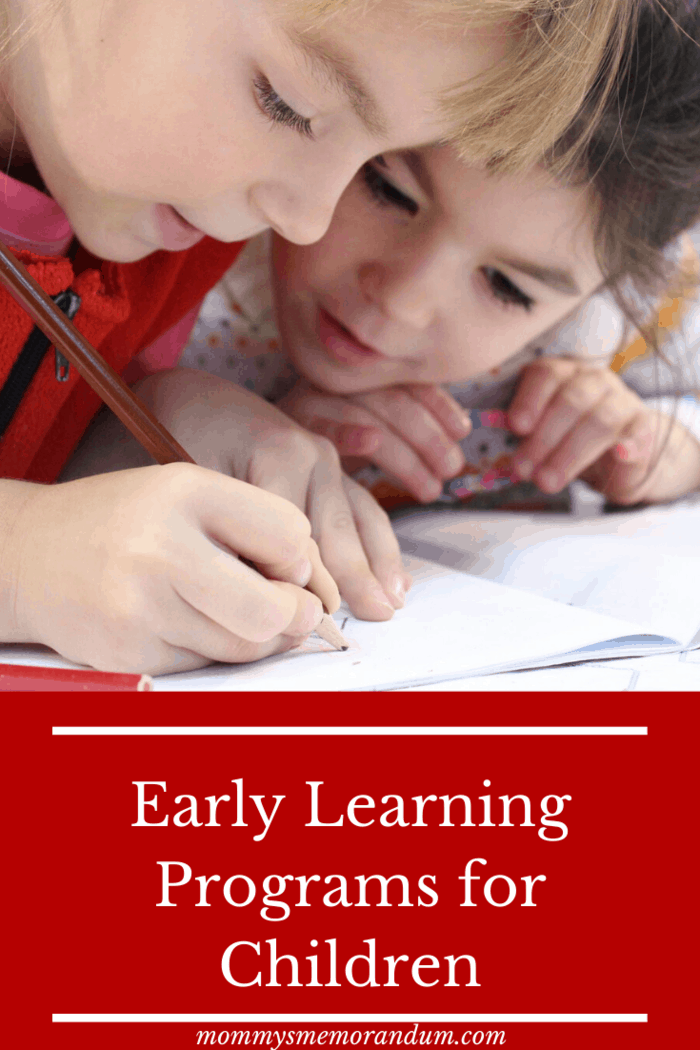 Early learning programs include a number of activities that enhance a child's social and cognitive functions and development.