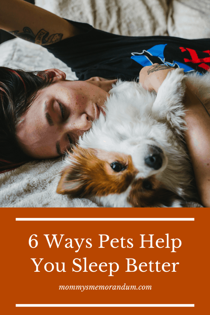 Research shows that people who let their pets sleep in their bedroom sleep better themselves. Here are 6 ways pets help you sleep better.