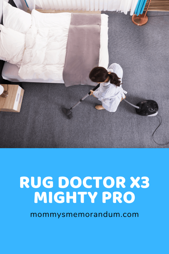 For a more intensive clean, the Rug Doctor X3 Mighty Pro is the best choice for you!