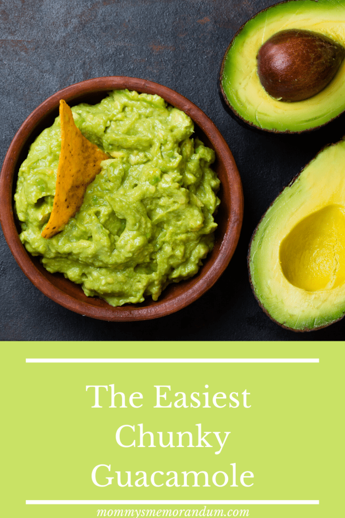this chunky guacamole is easy to make in just minutes