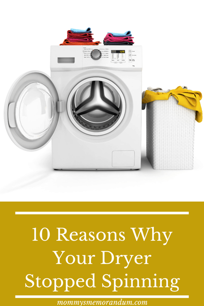 What are you going to do when the dryer stopped spinning? Having knowledge about what is happening may prevent you from calling a professional.