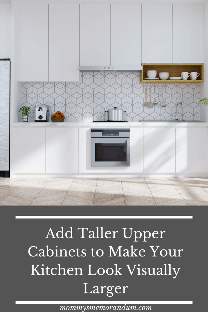 Once the eye level has been raised, it will also automatically make your kitchen look much bigger.