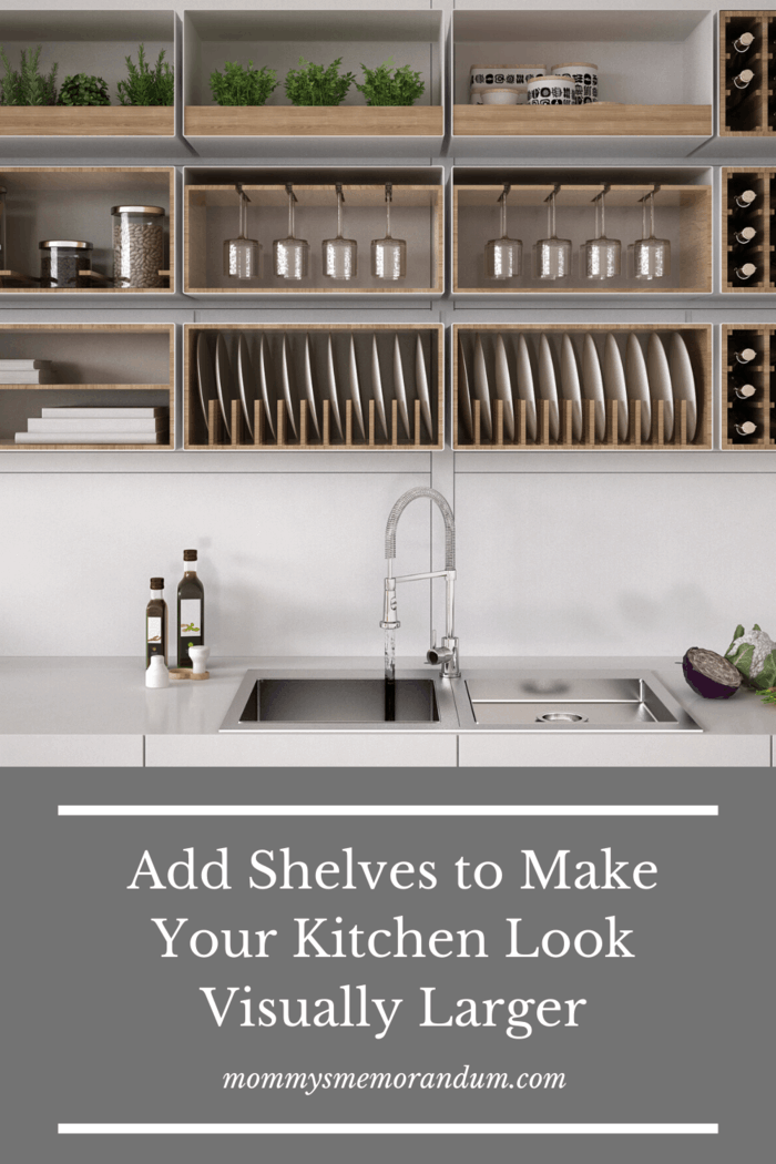 Visually Increase the Size of Your Kitchen with These Tips: Classic cabinets are a great way of removing the clutter and hiding kitchen items behind closed doors – but the disadvantage is that too many of these cabinets might make your kitchen feel cramped.