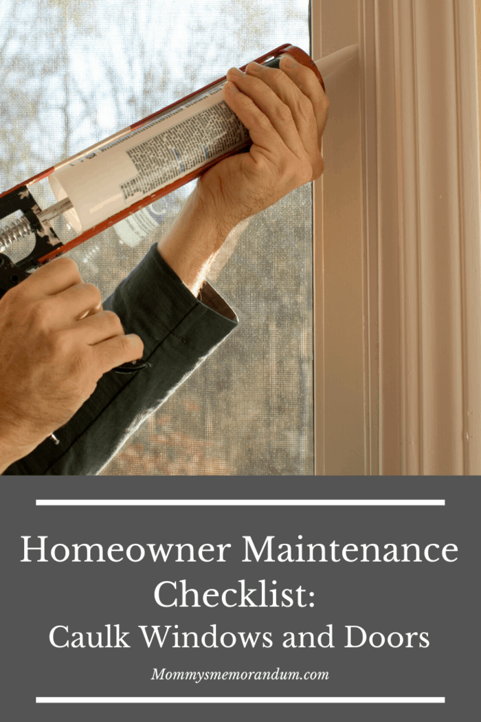 Another essential house maintenance task you need to do is to replace the caulking of your windows and doors.