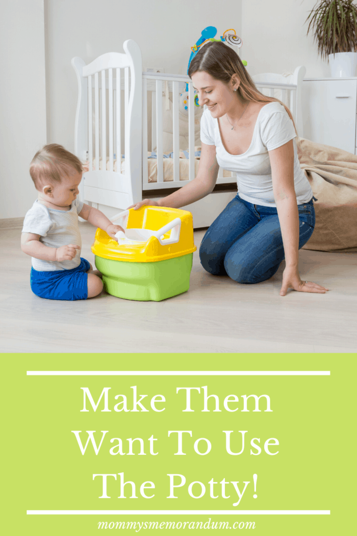 You can find examples of how to make it a fun experience in any fantastic potty training resourcebut it's up to you to find the best fit for your toddler.