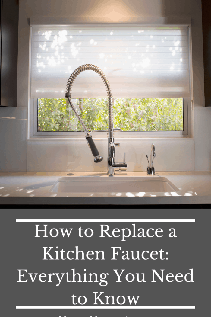 Once you reach that point, stop unscrewing and start detaching the hoses from the old faucet.