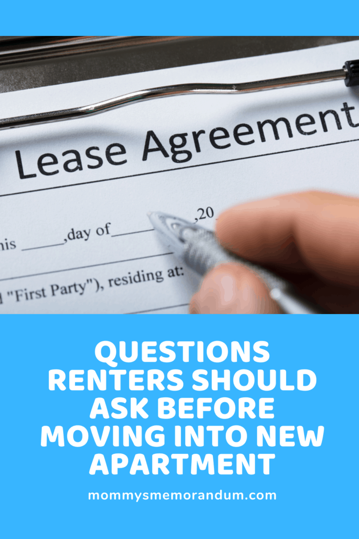 lease agreement being signed after renters questions were asked