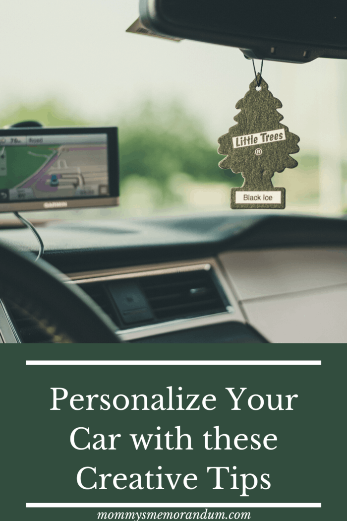 A customized air freshener serves a double purpose.