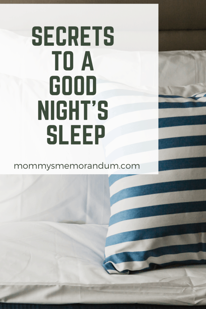A good night's sleep can change your whole day.