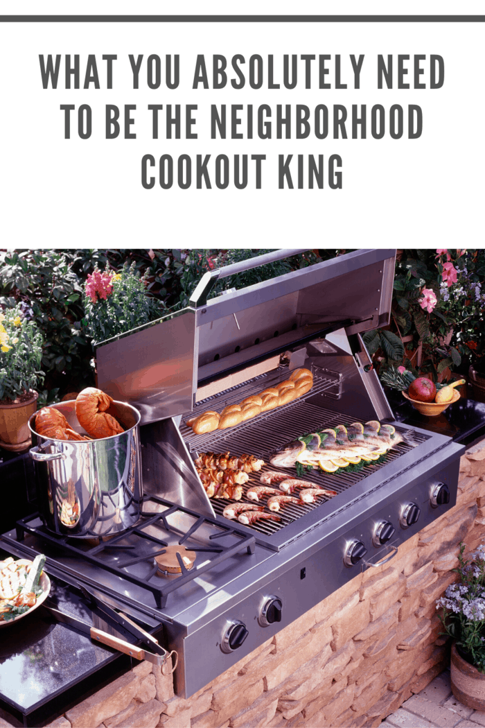An hour before your cookout starts, start cooking your veggies and side dishes, and then you can cook your main dish once your guests start arriving.