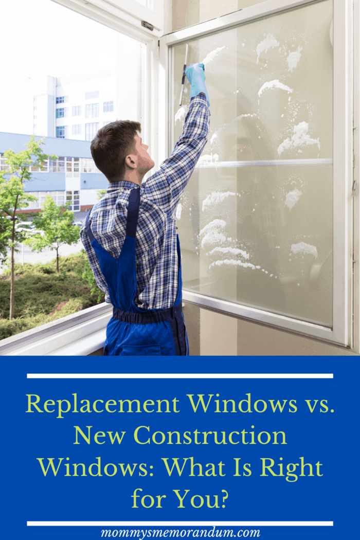 Replacement windows are fit into an existing window opening.