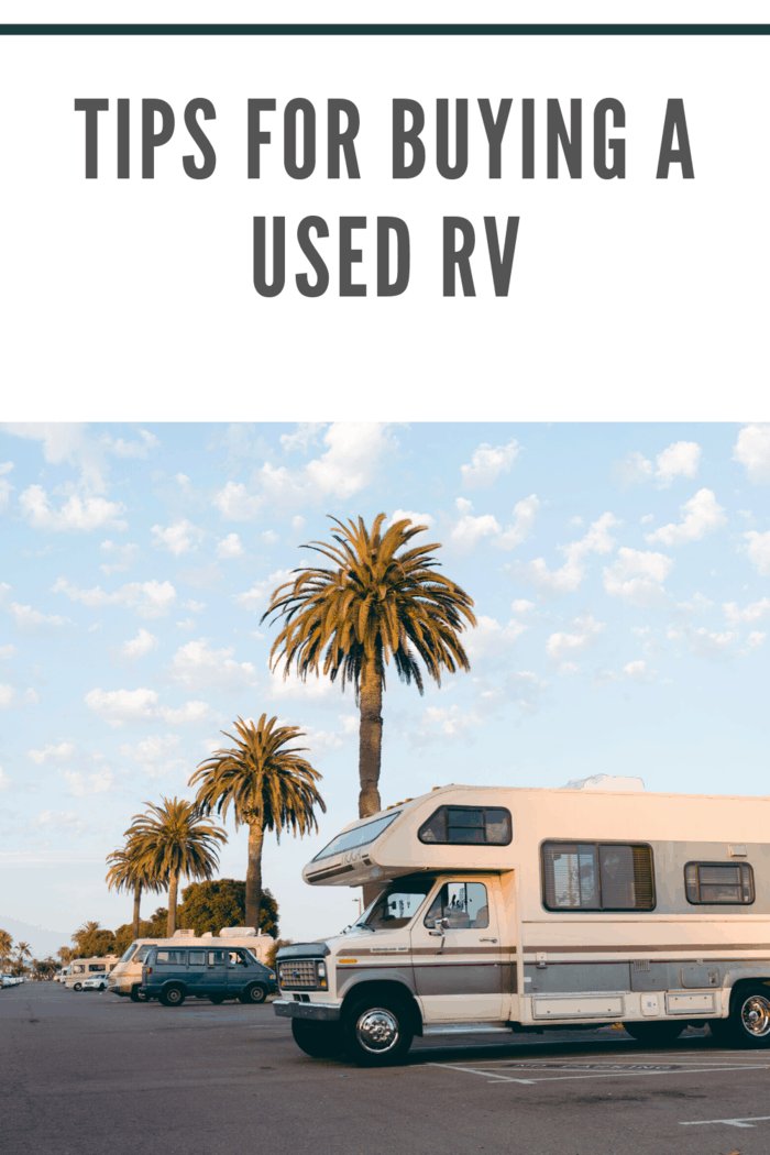 A primary benefit of buying pre-owned, used rv is the lower price point.