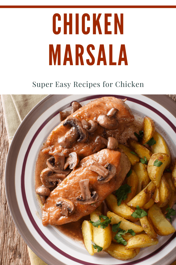 The Chicken Marsala is one of the main recipes most people reach for when they want a delicious chicken dish or in a hurry.