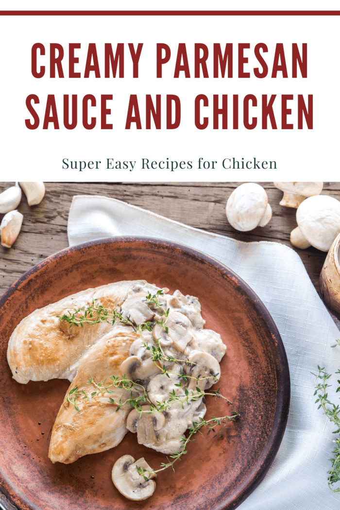 In this easy recipe, some halves of boneless chicken breasts are browned in a skillet and then served with an easy and a great-tasting Parmesan sauce.