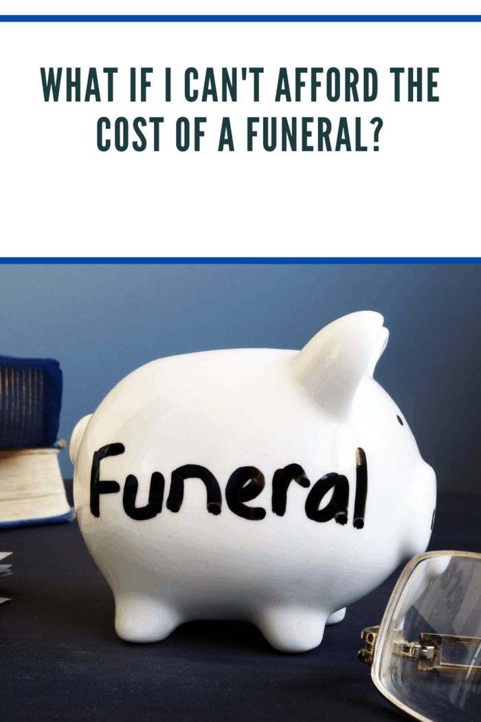 If you're in charge of trying to put one together and there's a lot of pressure, you may consider taking out a loan to pay for the funeral.