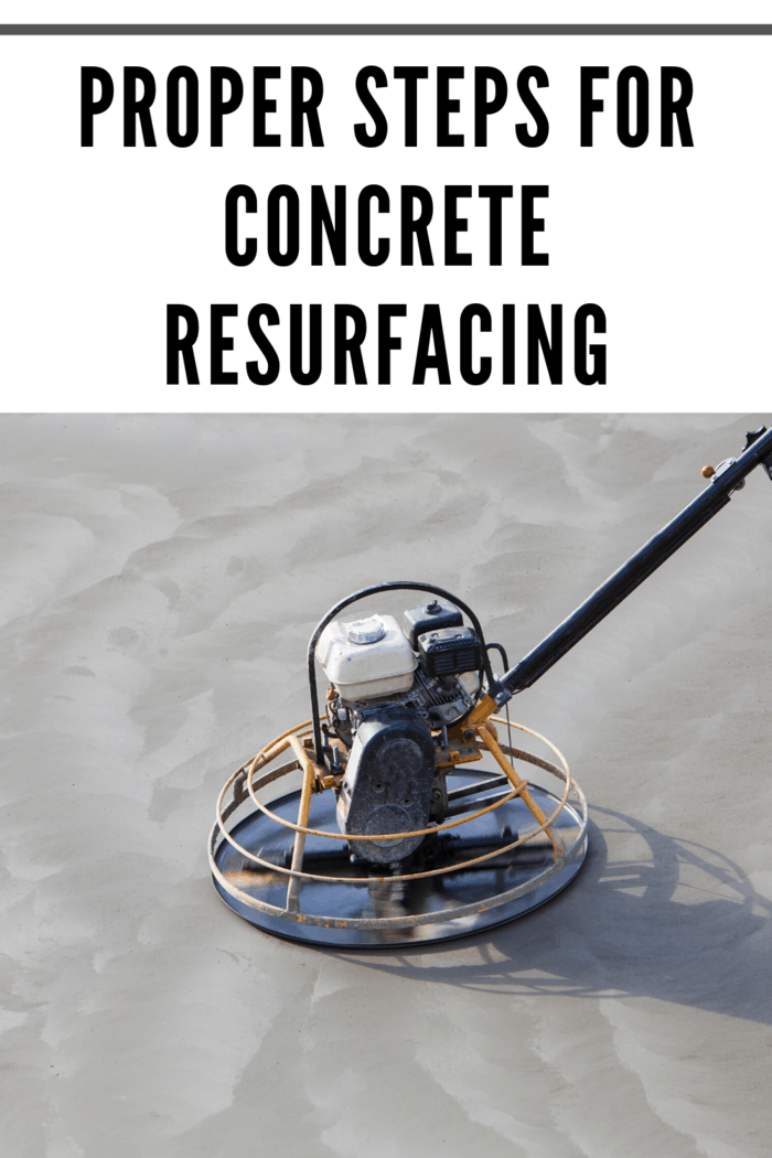 There are several necessary steps to follow when it comes to concrete resurfacing; the following steps are listed below: