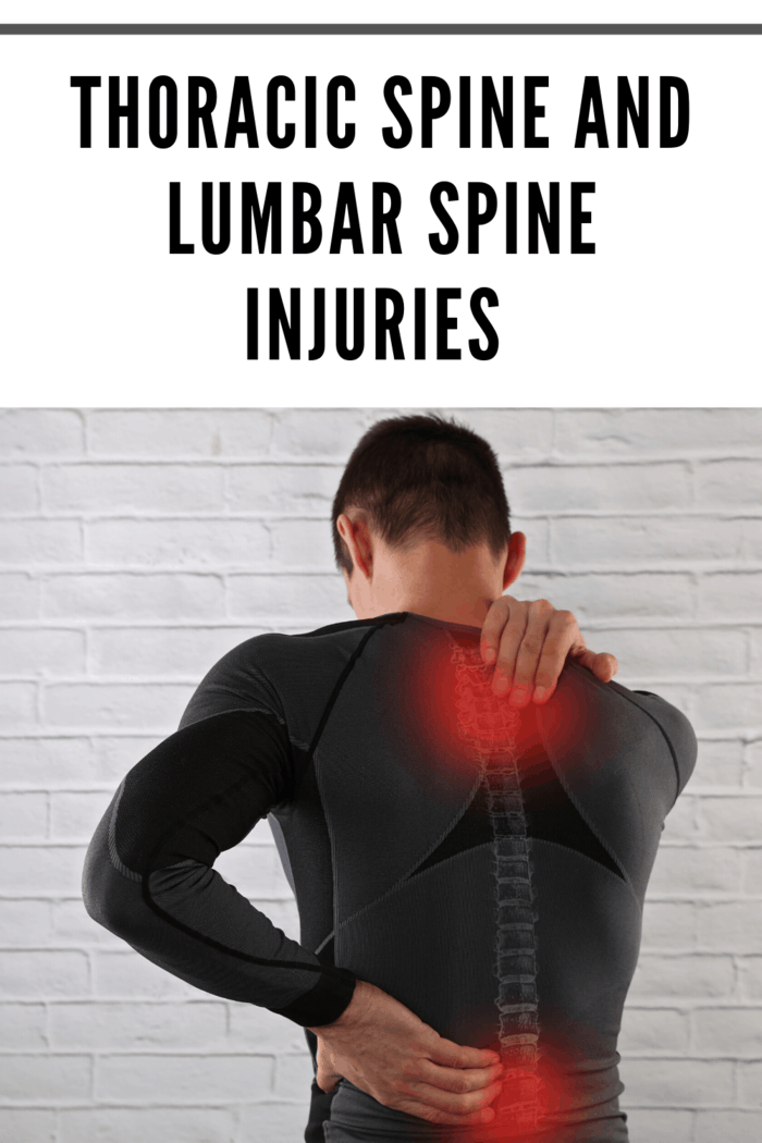 Typically, injuries associated with the thoracic spine are the most critical ones.