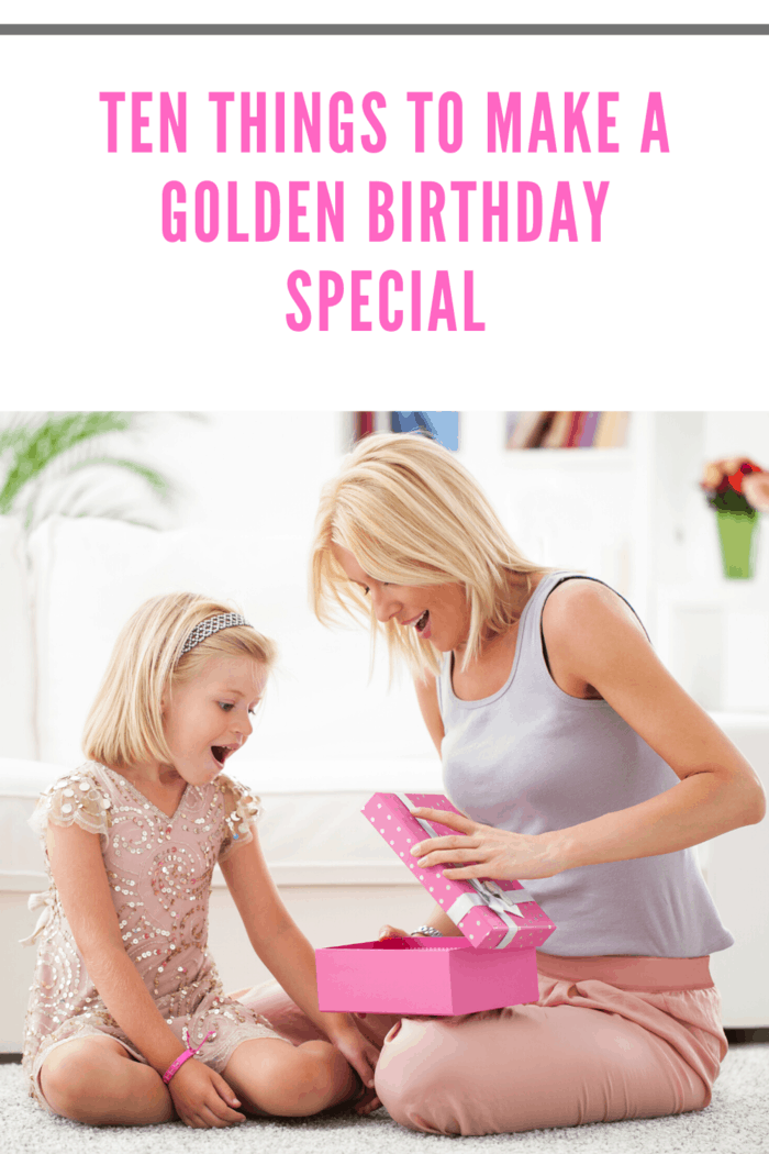 For kids, a golden birthday is an opportunity to make what's already considered a magical day even more special!