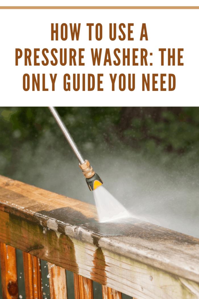 pressure washing a deck