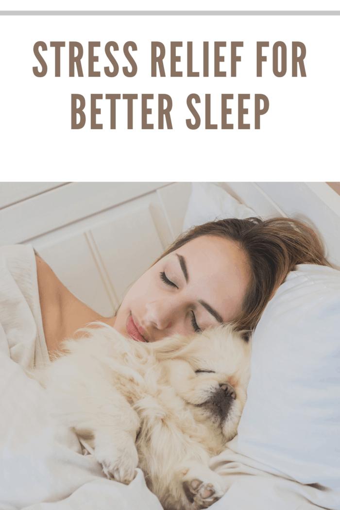 woman sleeping with pet
